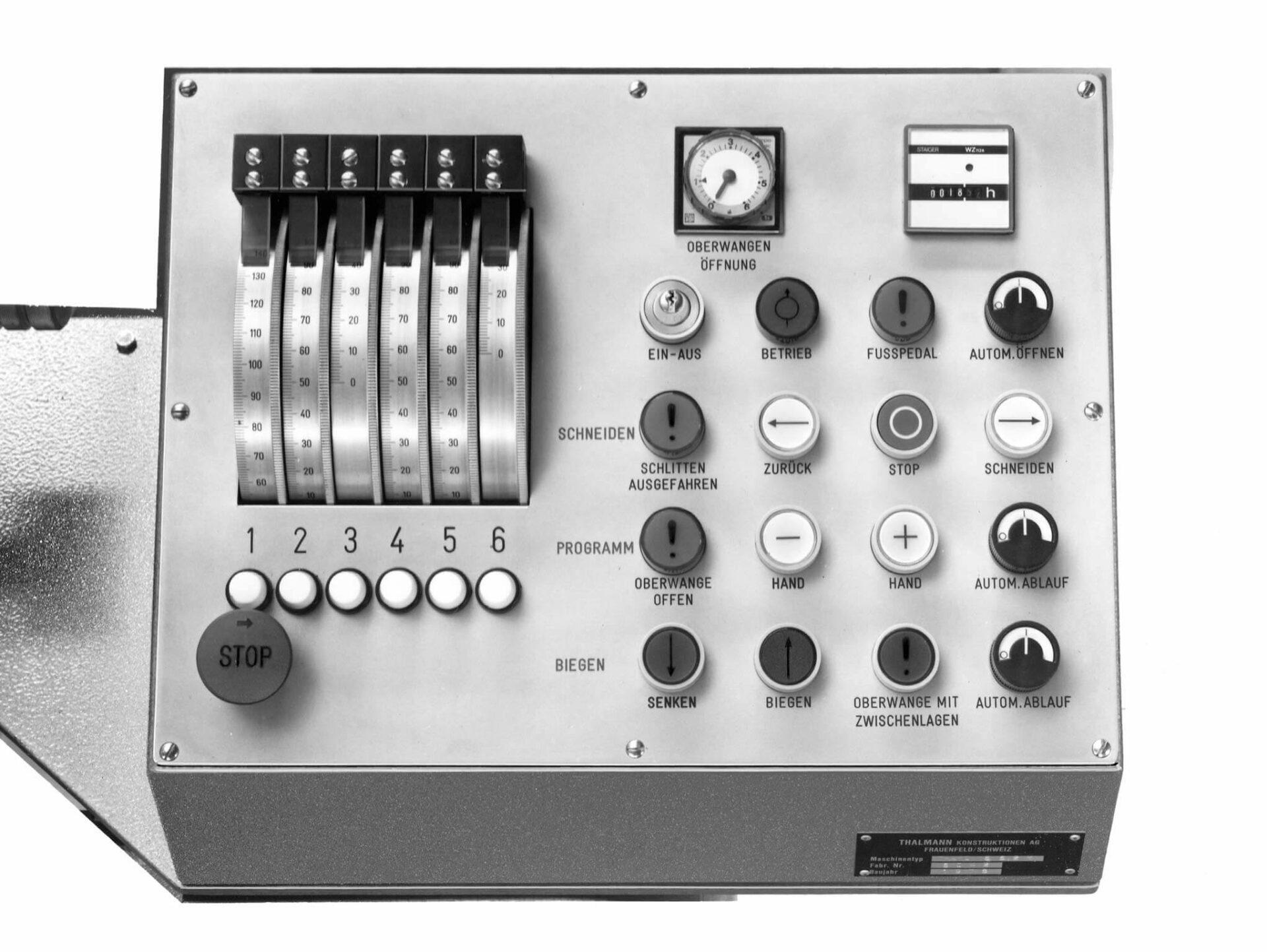 STEUERUNGSEINHEIT DER THAKO AUS DEM JAHRE 1978: Schon vor rund 41 Jahren sehr benutzerfreundlich, fortschrittlich und zukunftsweisend.